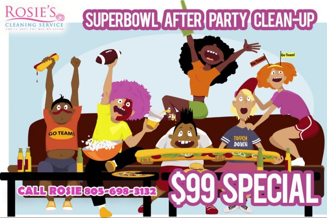 After Party Cleaning Service In Santa Barbara For Super Bowl.