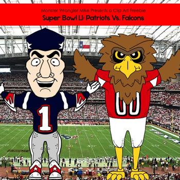 Super Bowl LI: Clip Art Freebie.