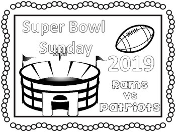 Super Bowl 2019 coloring pages and activities #sbdollardeal.