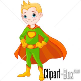CLIPART SUPER BOY.