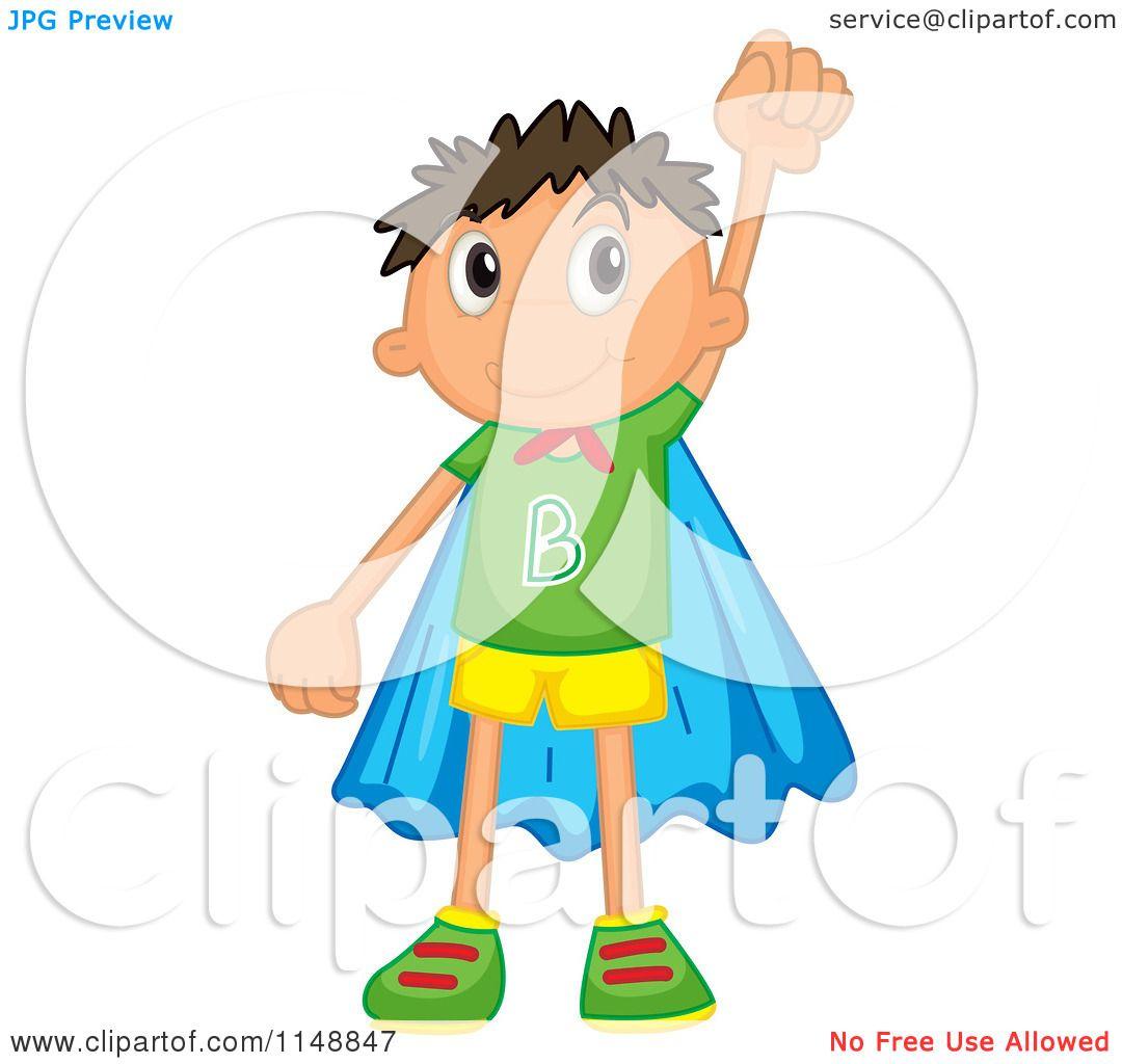 Cartoon of a Super Boy.