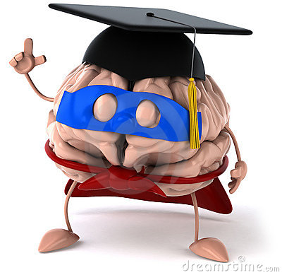 Super Brain Royalty Free Stock Photo.