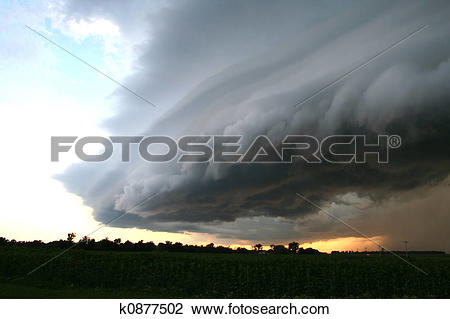 Stock Photo of Great Plains Supercell k0877502.