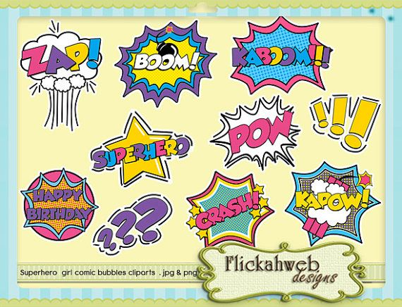 superhero cliparts printable super hero girl by TheDigiParty.