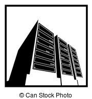 Stock Illustration of Supercomputer.