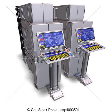 Supercomputer Clipart and Stock Illustrations. 112 Supercomputer.