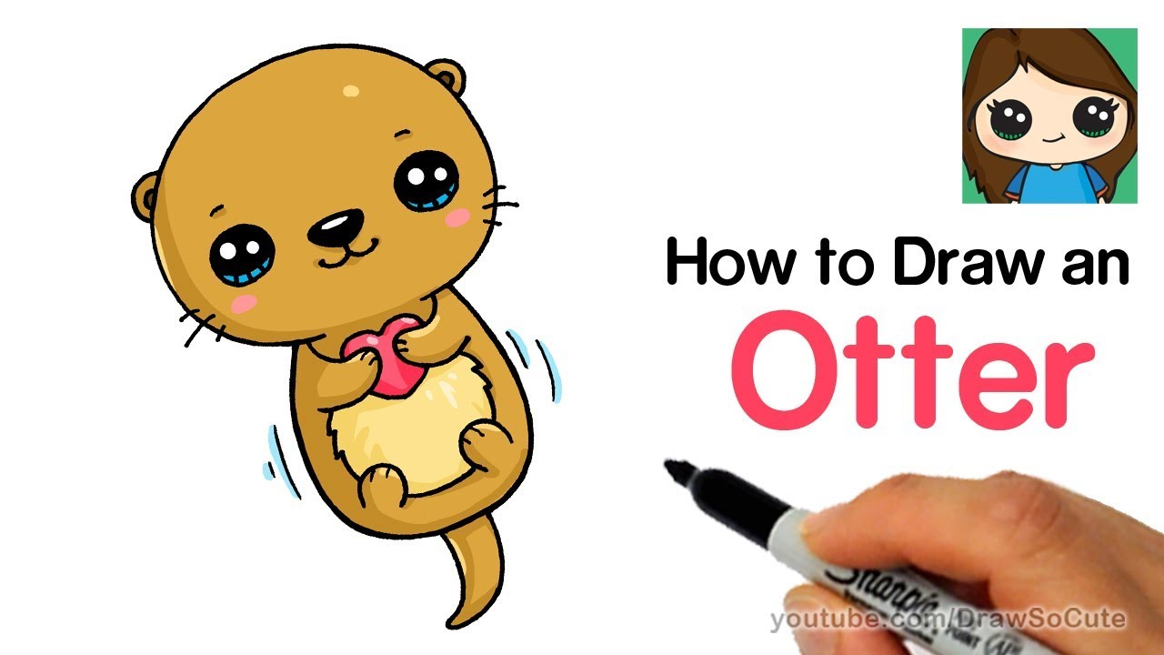 How to Draw an Otter Easy and Cute.