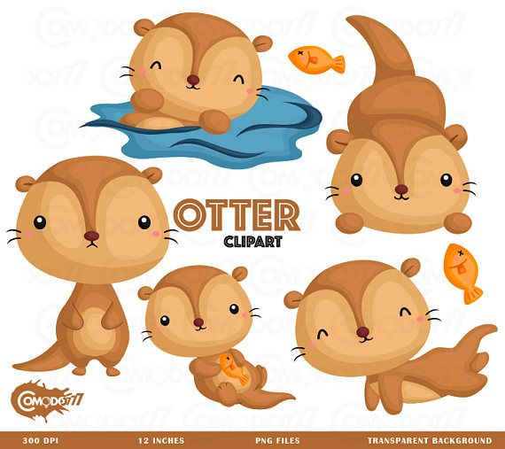 Cute Otter Clipart.