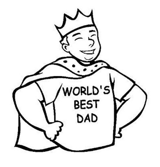Dad Clipart Black And White.