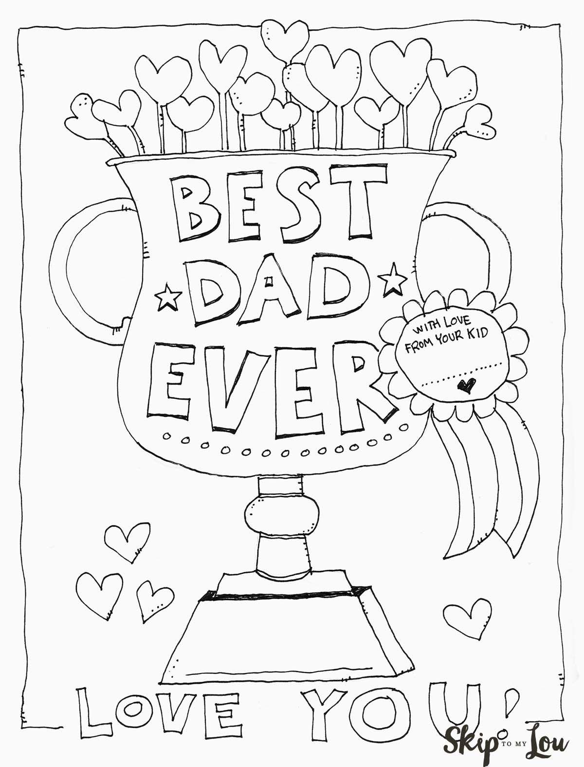Dad Coloring Page.