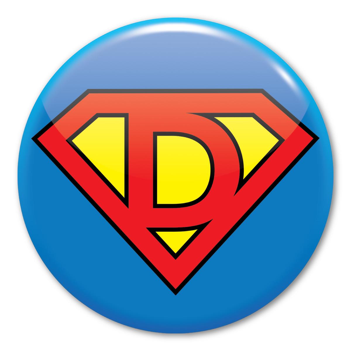 Super Dad Logo Circle Button.