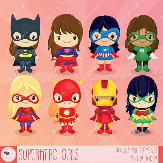 Superhero girls clipart, Superhero clipart, girls clipart, comic.