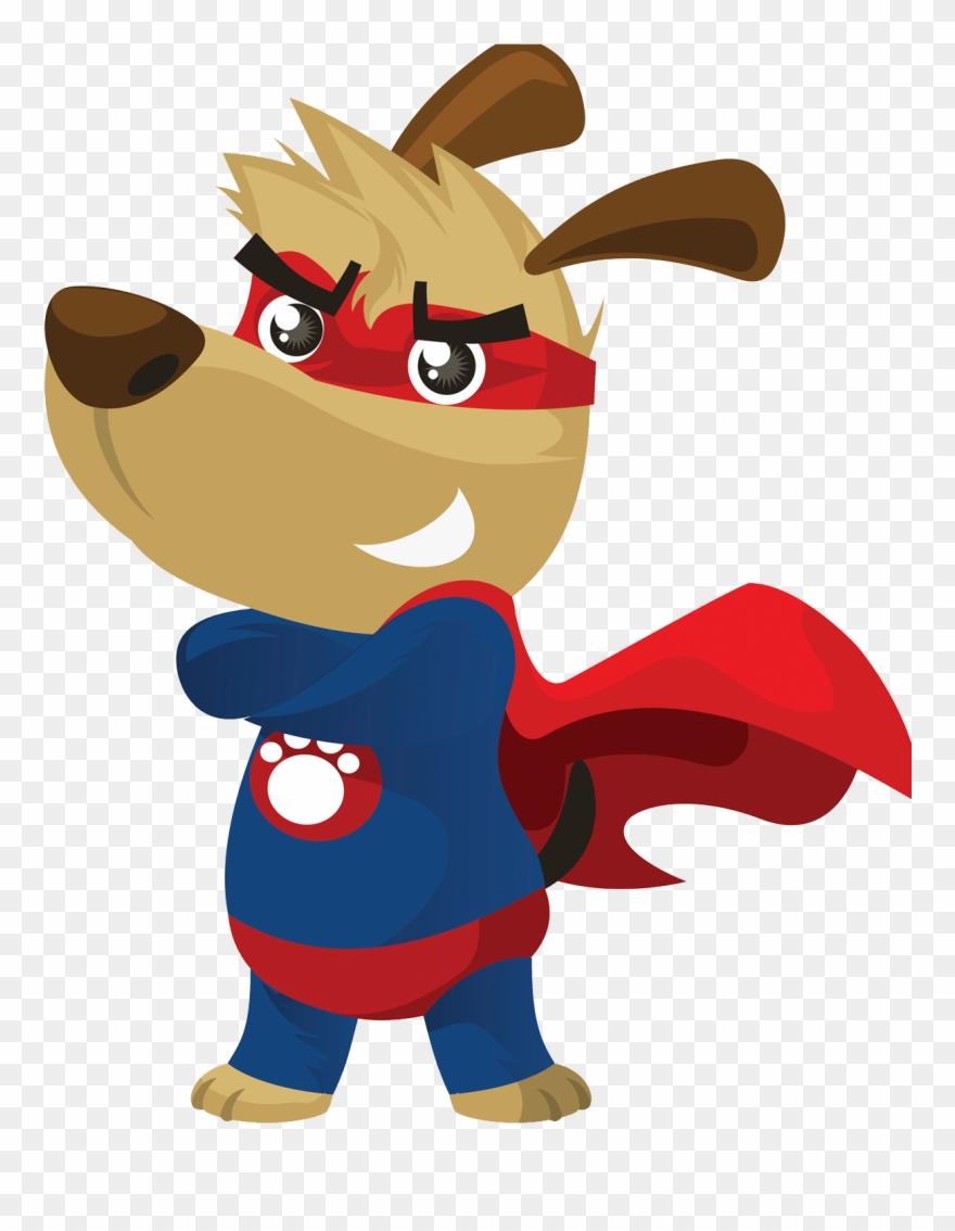 Clipart Dogs Superhero.
