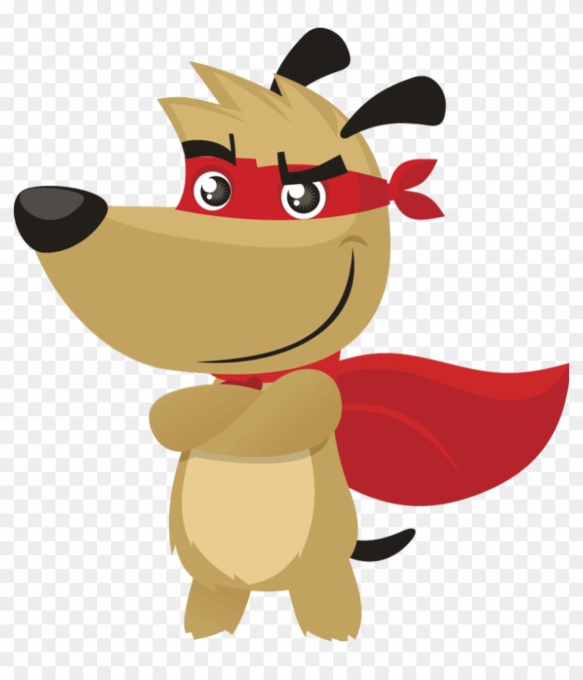 Superhero Dog Clipart.