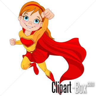CLIPART SUPER GIRL.