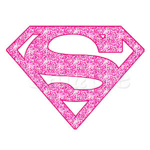 Details about SUPERGIRLS LOGO IRON ON TRANSFER FOR WHITE / LIGHT COLOR  FABRICS.