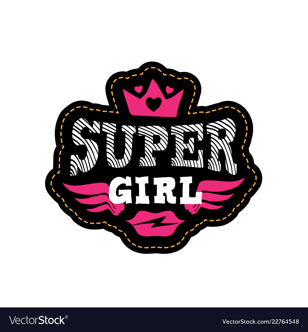 Super girl print or patch for t.
