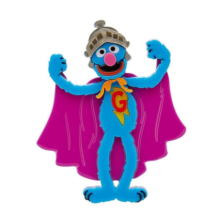 Super Grover Brooch by Erstwilder.
