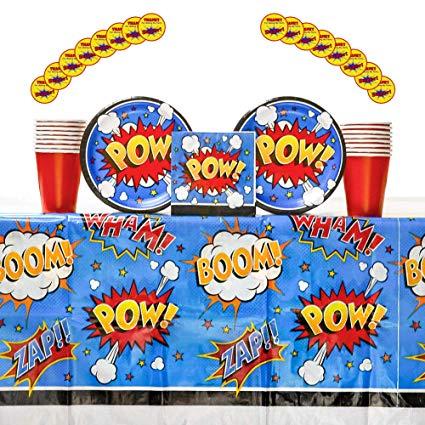 Amazon.com: Superhero Slogans Party Supplies Pack for 16.