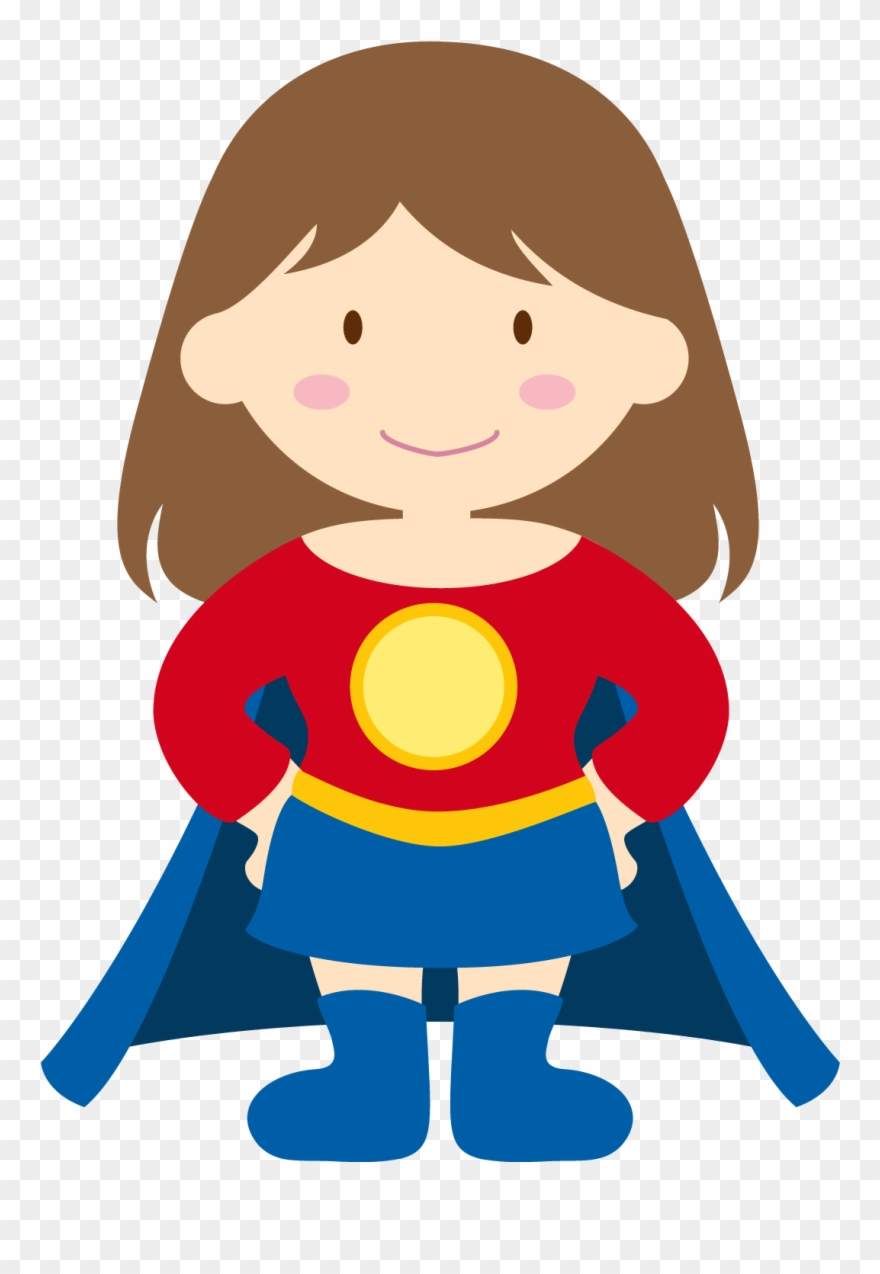 Fancy Plush Design Superhero Kid Clipart Vector Illustration.