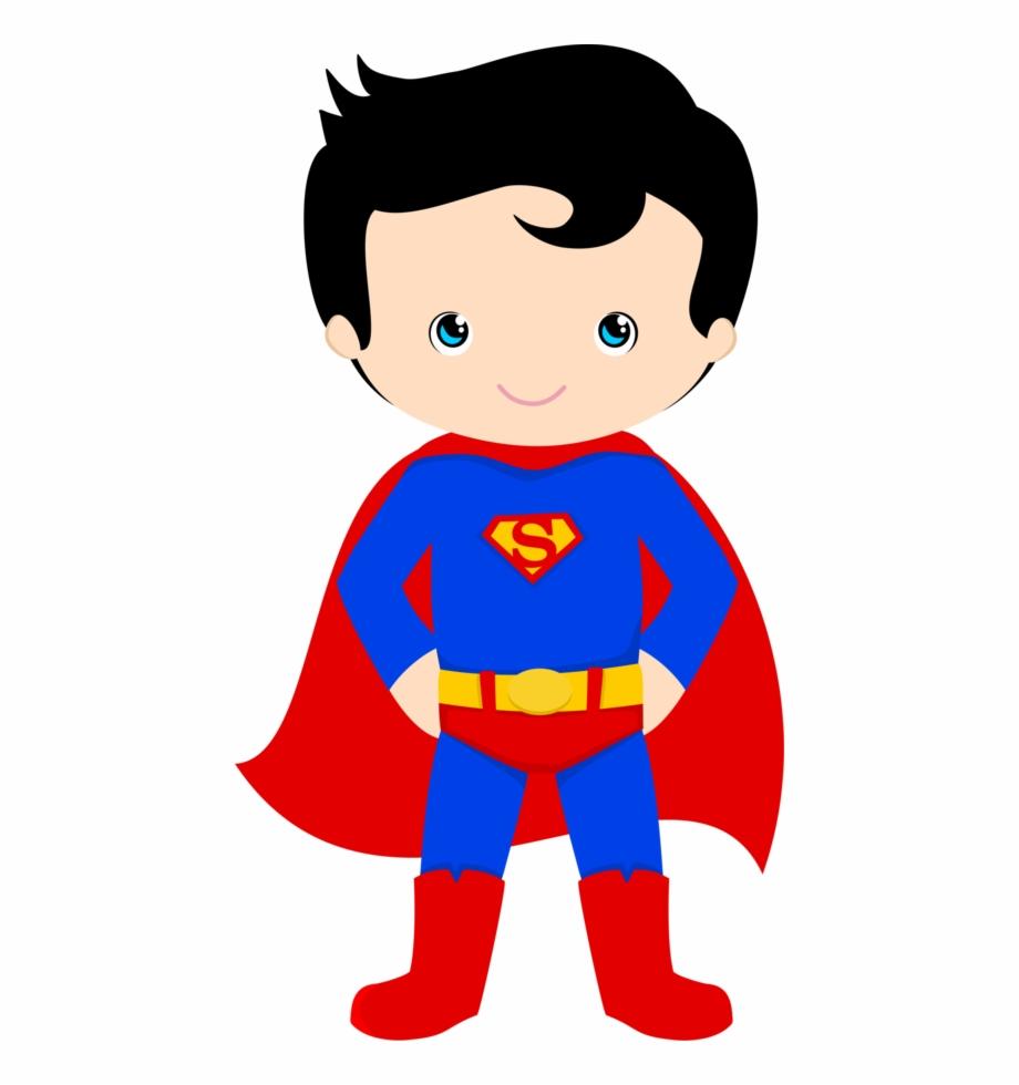 Printable Super Hero Classroom Clip Art.