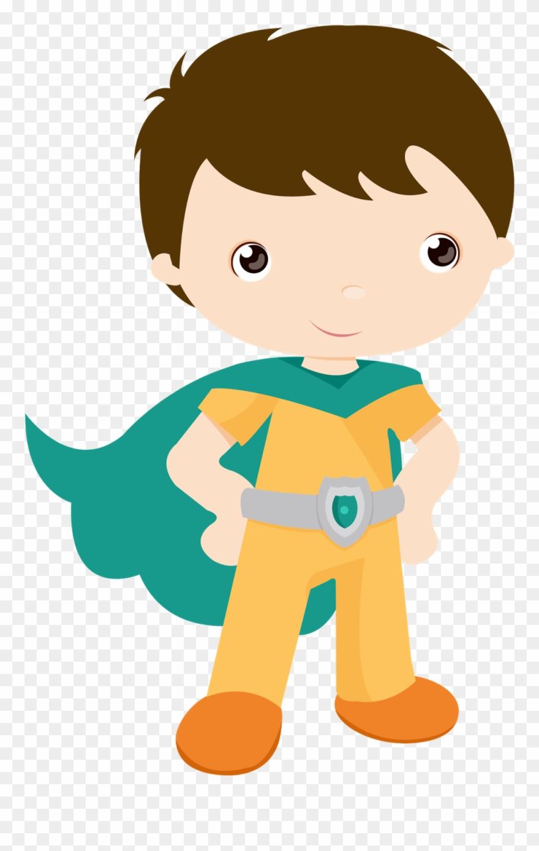 Vector Free Kids Dressed As Superheroes Clipart.