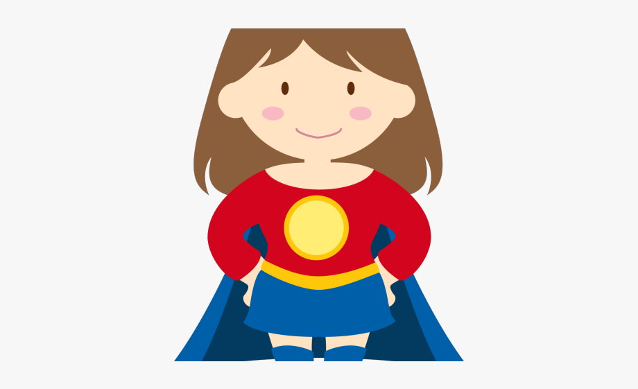 Kid Superhero Clipart.