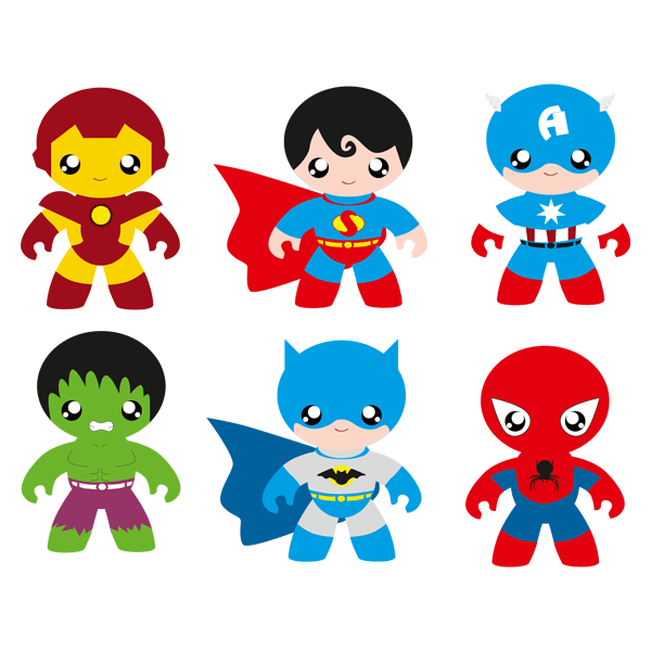 Stickers for Kids: Heroes Kit.