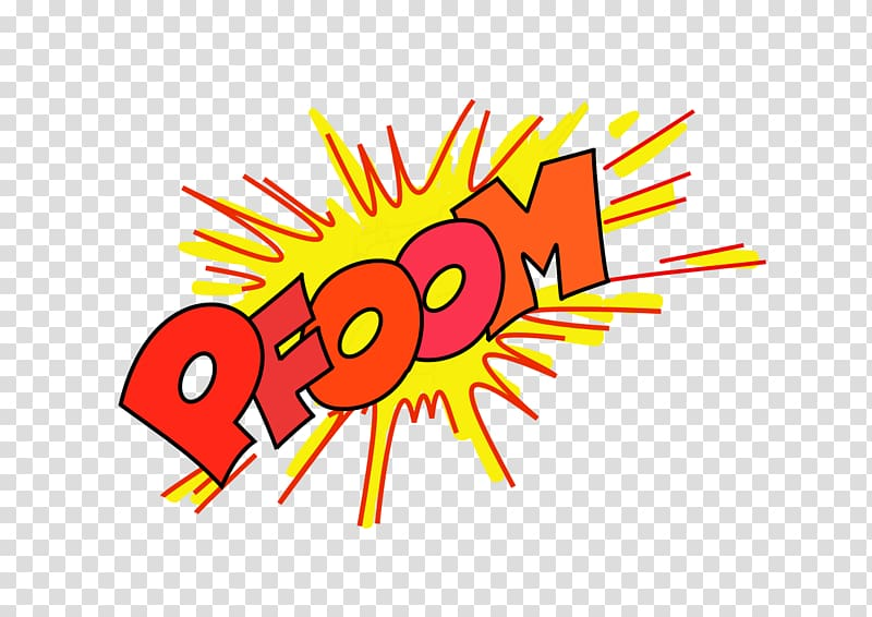 Onomatopoeia , Boom transparent background PNG clipart.