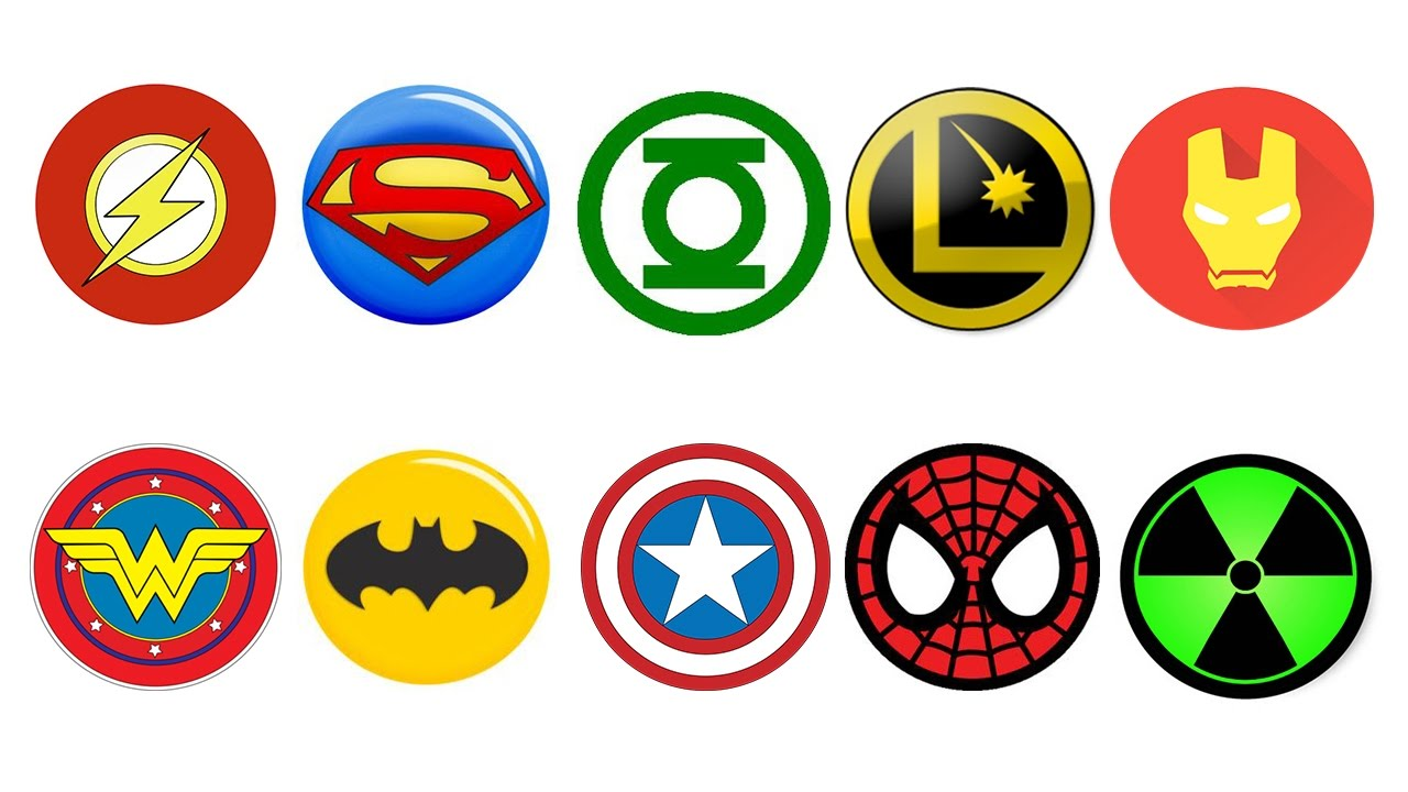 Superheroes Coloring Pages for kids // Superheroes Logo Coloring Book.