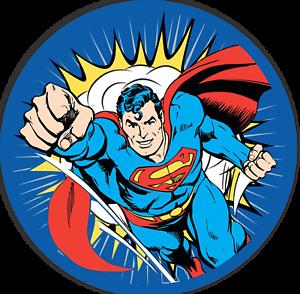 Details about 24 DC Superman Super Heroes Logo Stickers Labels for Bag  Lollipop Party Favors.