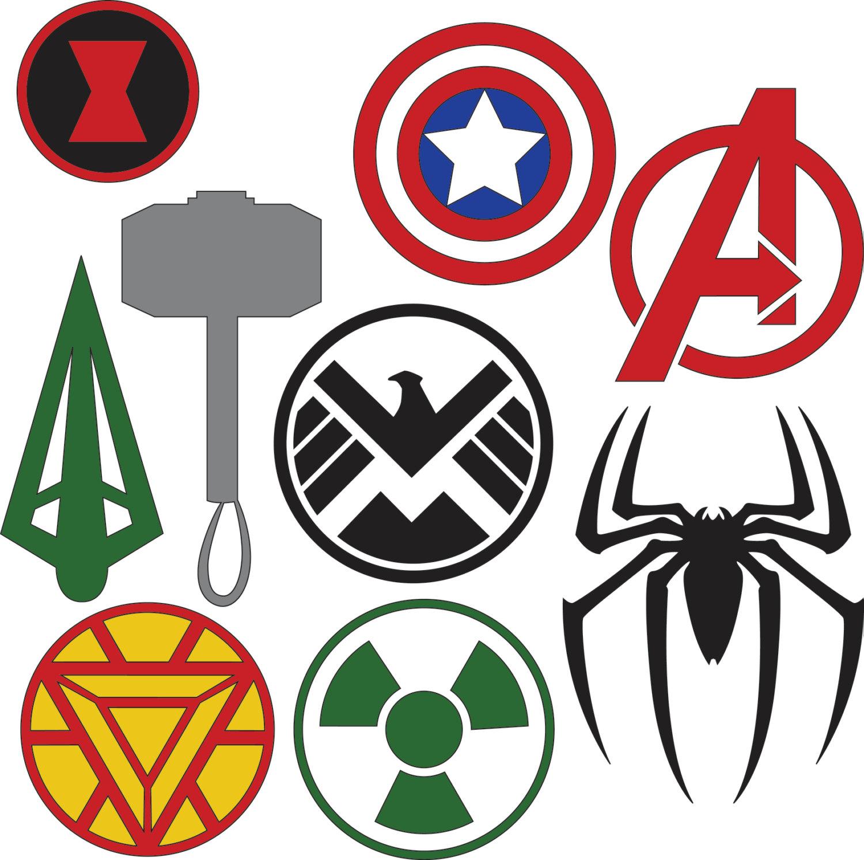 Marvel heroes Logos.