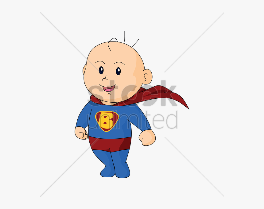 Super Man Baby Cartoon Clipart , Png Download.