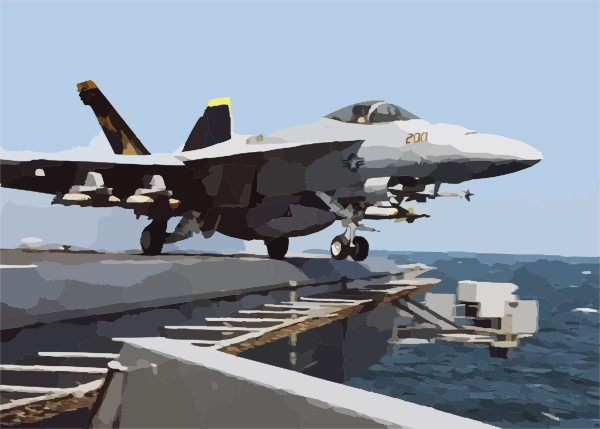 Super Hornet Launches Off The Lincoln Clip Art at Clker.com.