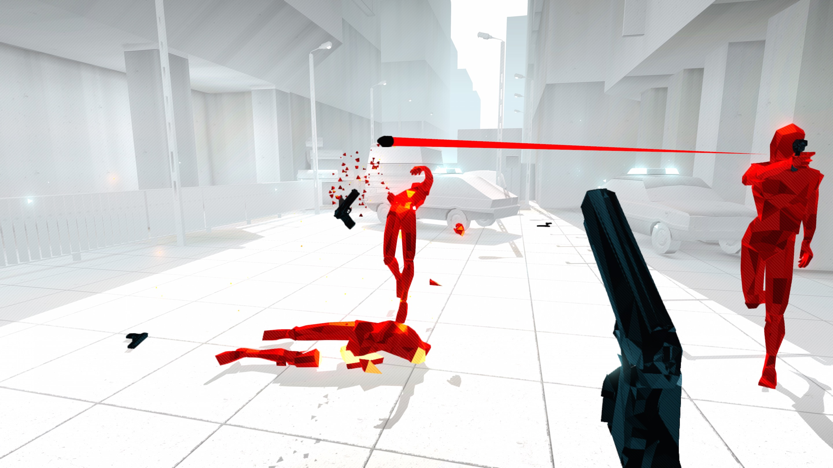 Superhot a first person shooter coming to Linux, Mac and Windows.