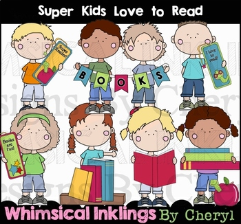 Super Kids Learn To Read Clipart Collection.
