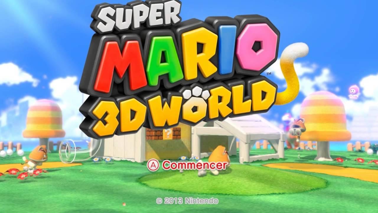 Logo Super Mario 3D World !.