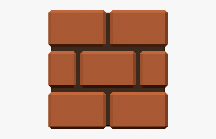 Mario Square Super Bros Brown Free Clipart Hd.