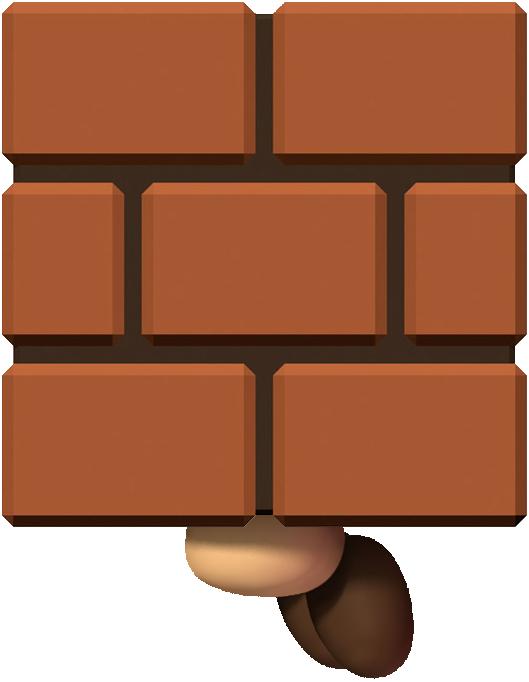 Super Mario Clipart Brick Pile.