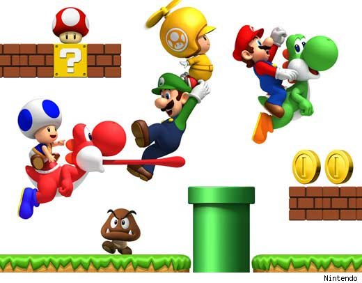 Super Mario Brothers Clipart.