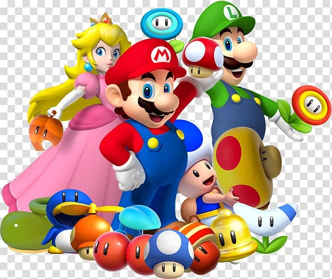 Super Mario characters illustration, Super Mario Bros. New.