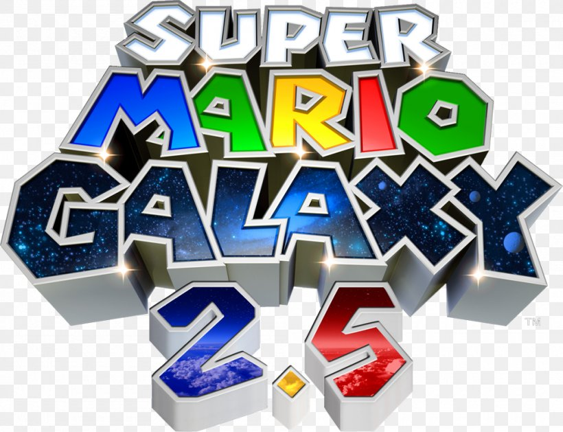 Super Mario Galaxy Logo Wii Brand Product Design, PNG.