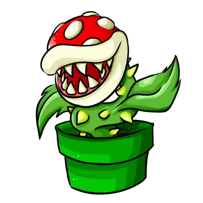Clipart library: More Like Piranha Plant from Super Mario by.