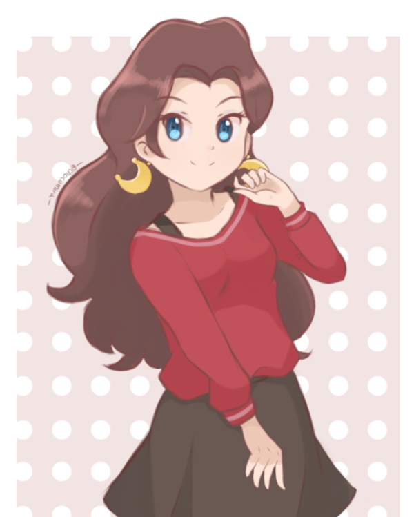Casual outfit for Pauline inspired by an unused design in.