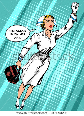 Vintage Nurse Stock Images, Royalty.