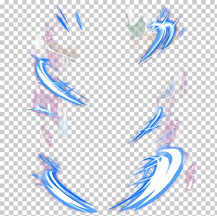 Super Saiyan Desktop , aura, blue and white aura.