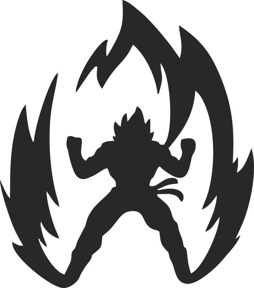 Dragon Ball Z Super Saiyan Silhouette.