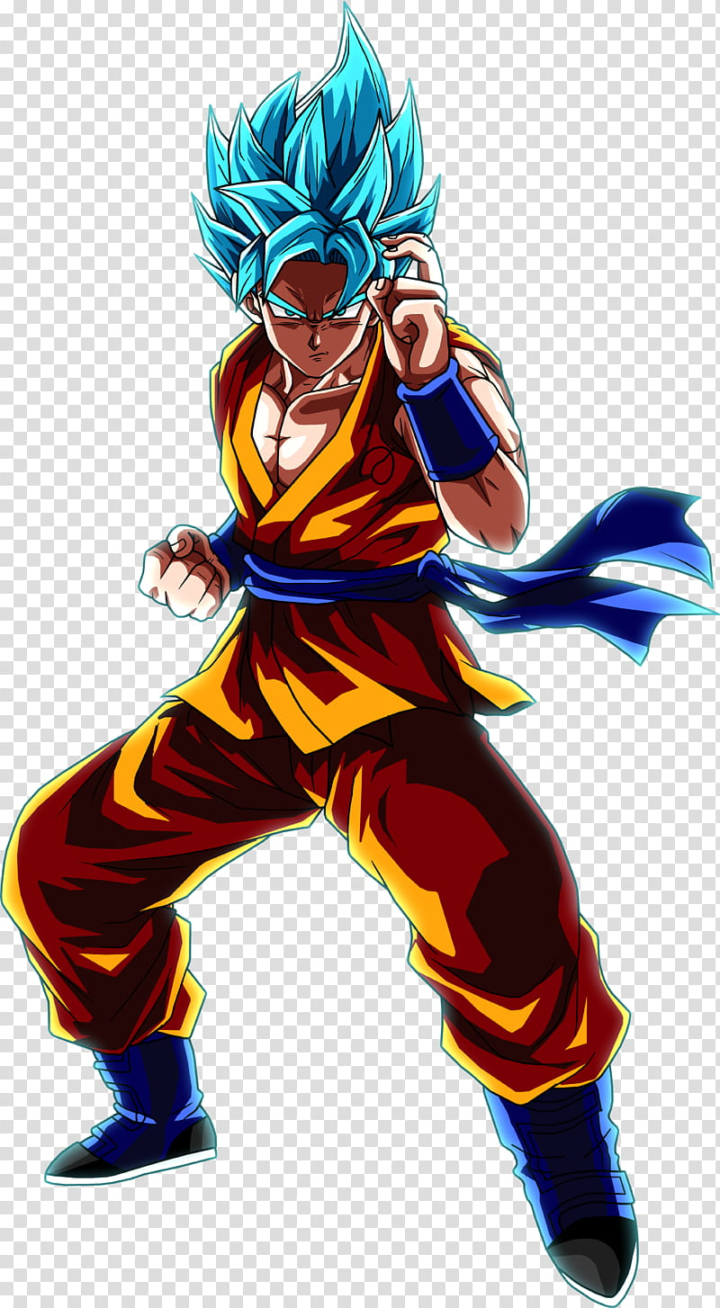 Super Saiyan Blue Goku transparent background PNG clipart.