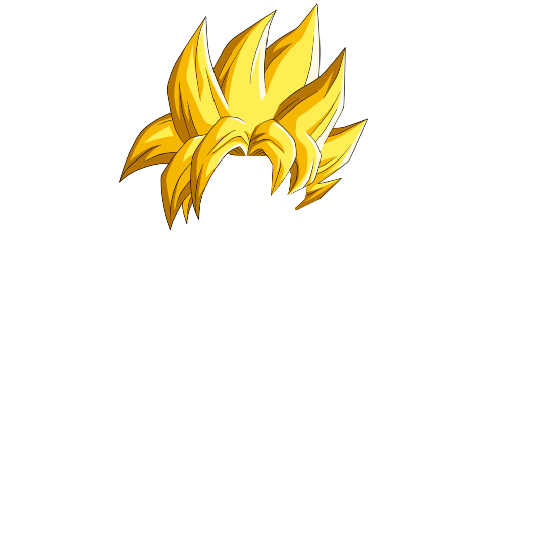 Super Saiyan Hair Png Group (+), HD Png.