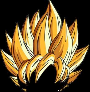 10 Best Super Saiyan Hair PNG Images of GOKU.